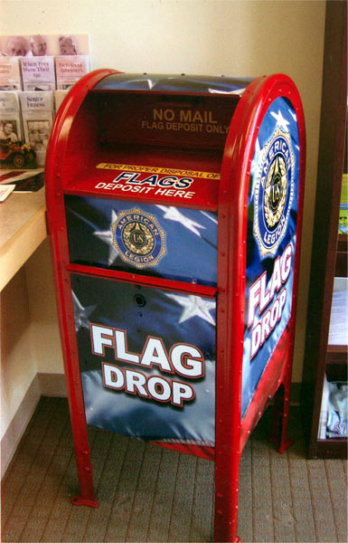 F w grigg american legion post 68 mercntville nj for How do you properly dispose of an american flag