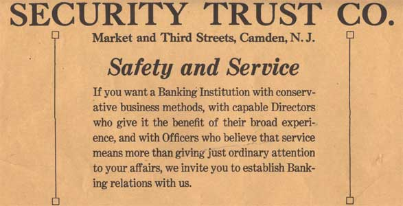 New Jersey Safe Deposit And Trust Company Aks Security