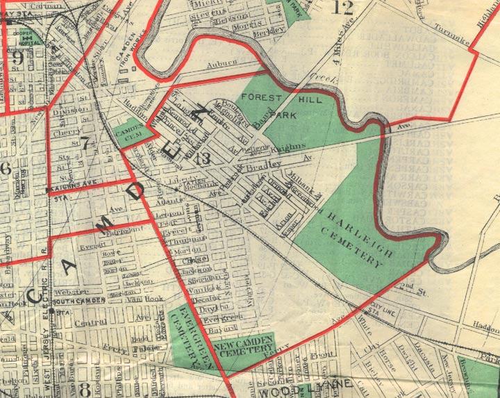 CAMDEN Camden Nj Map on
