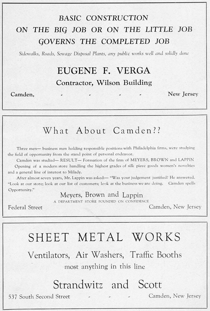 Camden Nj Centennial Mirror 1828 1928