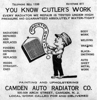 Camden Nj Herman Z Cutler Camden Auto Radiator