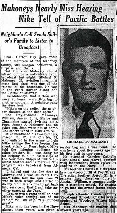 Michael F Mahoney