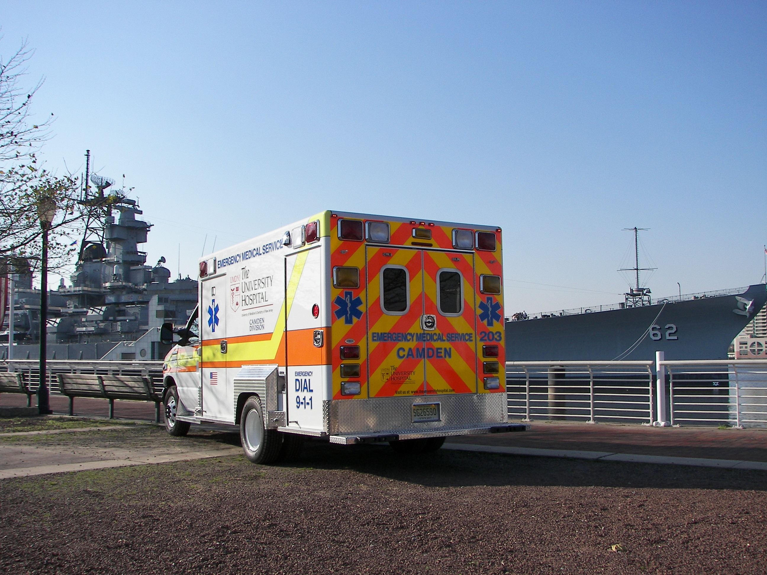 In 2006 UMDNJ EMS Camden celebrated its 20th year of service to the City of Camden. UMDNJ EMS answers a little over 25,000 calls a year!