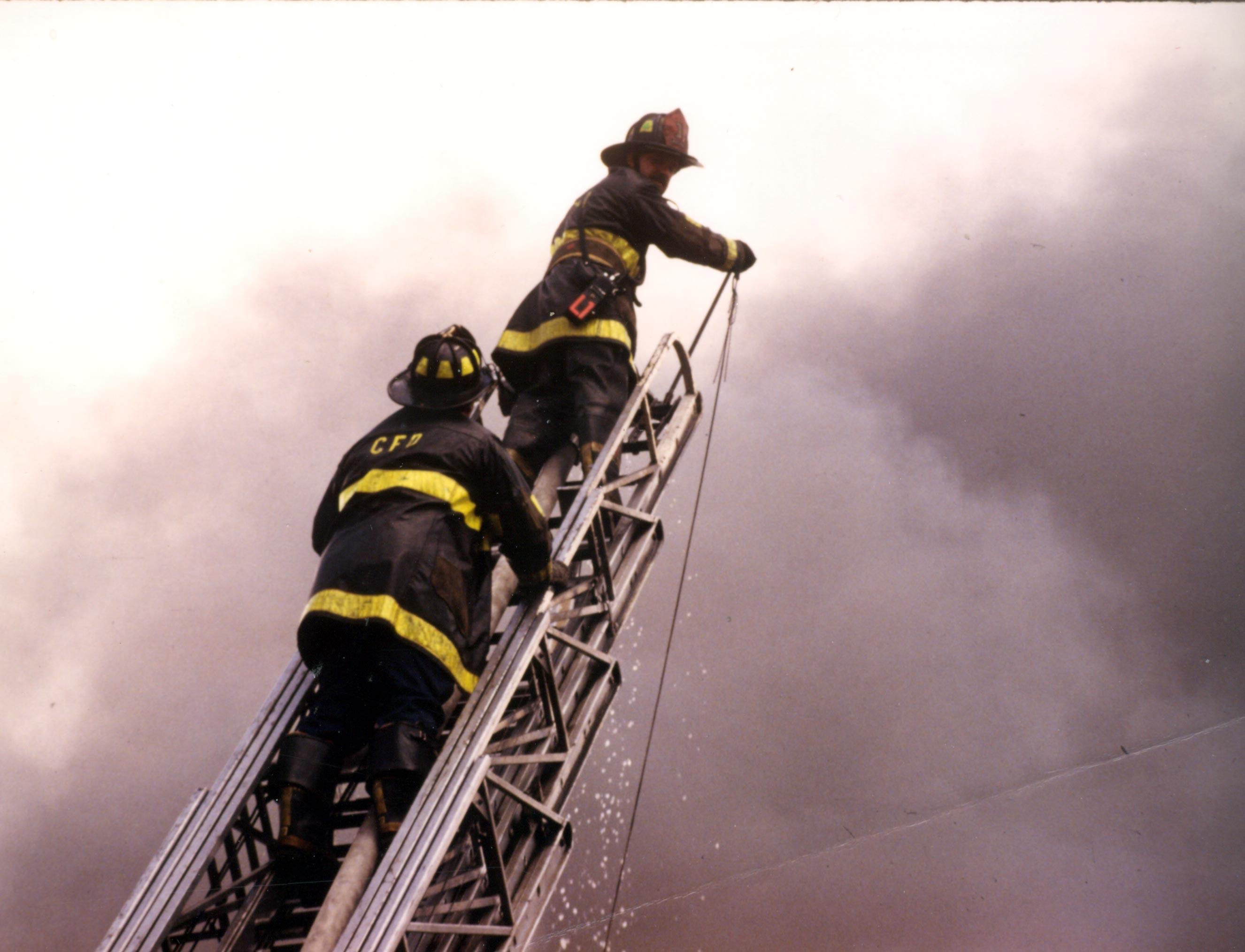 Firefighter ladder tattoo