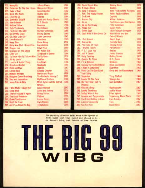 June 19698 Wibg Am 990 Top 300 All Time Records